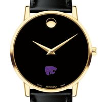 Kansas State University Men's Movado Gold Museum Classic Leather