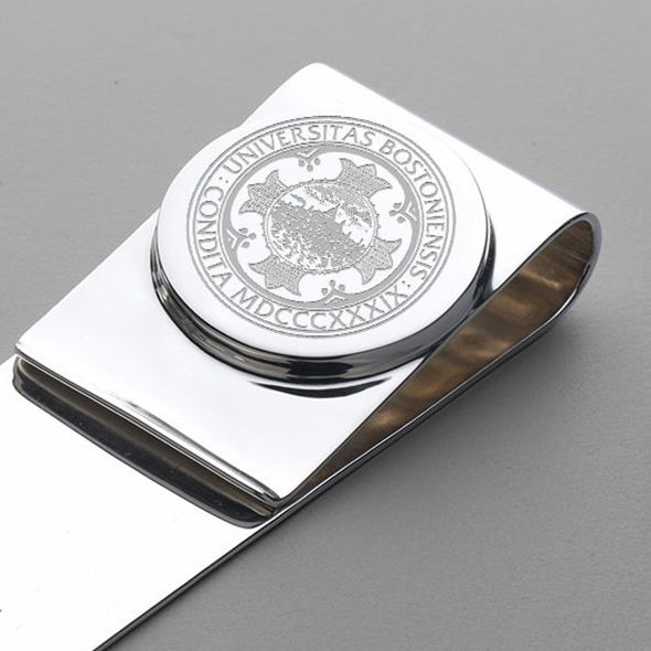 Boston University Sterling Silver Money Clip - Image 2
