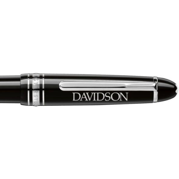 Davidson College Montblanc Meisterstück Midsize Ballpoint Pen in Platinum - Image 2