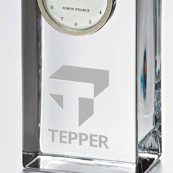Tepper Tall Glass Desk Clock by Simon Pearce - Image 2