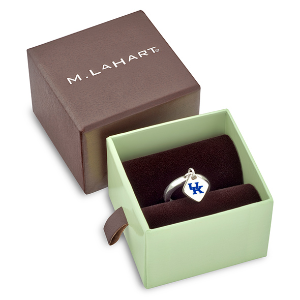 University of Kentucky Sterling Silver Ring with Sterling Tag - Image 2