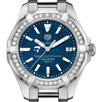 Tepper Women's TAG Heuer 35mm Steel Aquaracer with Blue Dial