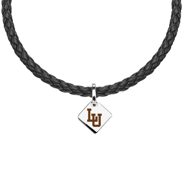 Lehigh University Leather Necklace with Sterling Silver Tag