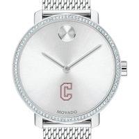 Charleston Women's Movado Bold with Crystal Bezel & Mesh Bracelet