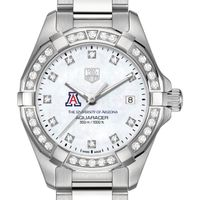 University of Arizona W's TAG Heuer Steel Aquaracer with MOP Dia Dial & Bezel