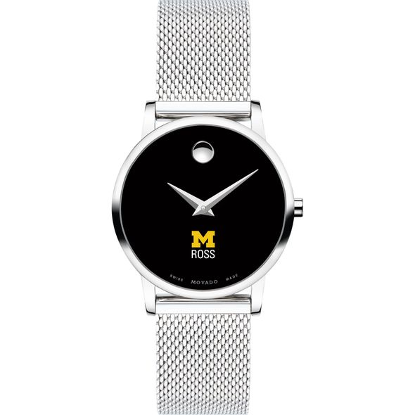 Ross School of Business Women's Movado Museum with Mesh Bracelet - Image 2