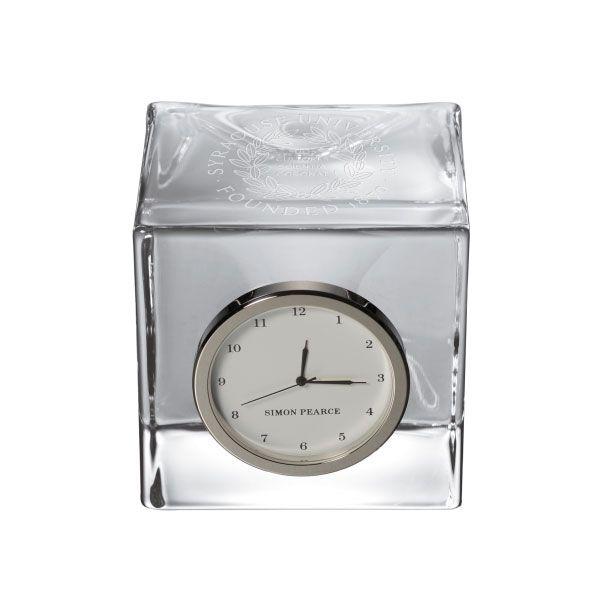 Syracuse University Glass Desk Clock by Simon Pearce
