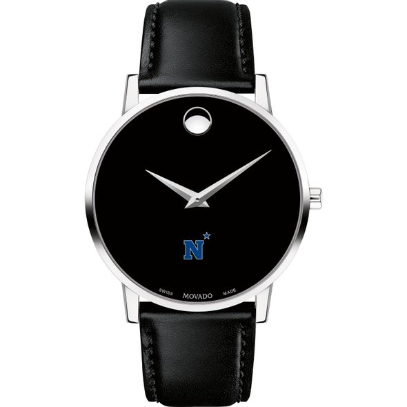 US Naval Academy Men's Movado Museum with Leather Strap - Image 2