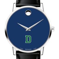 Dartmouth College Men's Movado Museum with Blue Dial & Leather Strap