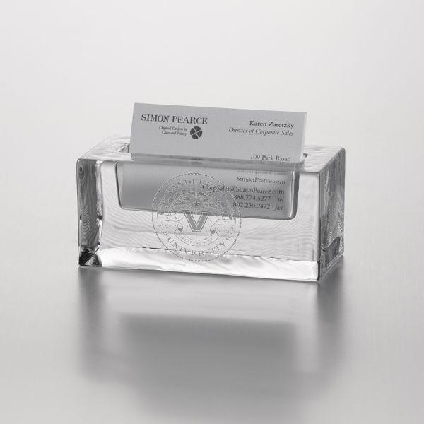 Vanderbilt Glass Business Cardholder by Simon Pearce