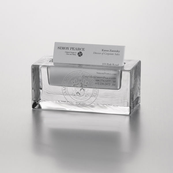 James Madison Glass Business Cardholder by Simon Pearce