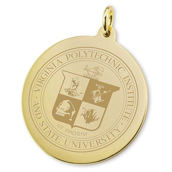 Virginia Tech 14K Gold Charm - Image 2