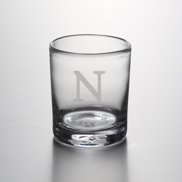 Northwestern Double Old Fashioned Glass by Simon Pearce