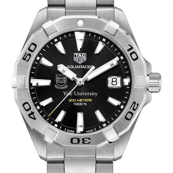 Yale University Men's TAG Heuer Steel Aquaracer with Black Dial
