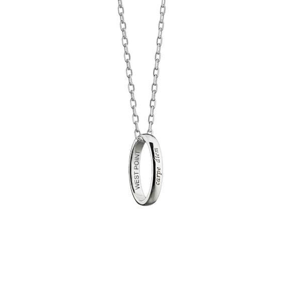 "West Point Monica Rich Kosann ""Carpe Diem"" Poesy Ring Necklace in Silver - Image 1"