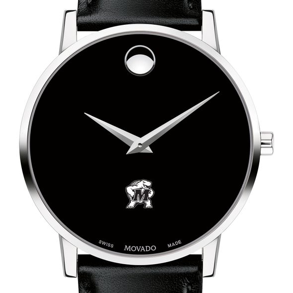 University of Maryland Men's Movado Museum with Leather Strap