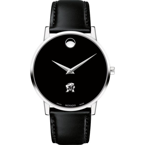 University of Maryland Men's Movado Museum with Leather Strap - Image 2