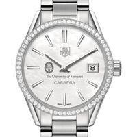 University of Vermont Women's TAG Heuer Steel Carrera with MOP Dial & Diamond Bezel