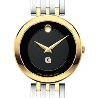 Georgetown University Women's Movado Esparanza Two-Tone Museum with Bracelet