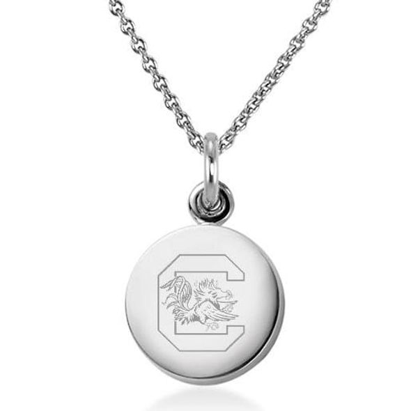 University of South Carolina Necklace with Charm in Sterling Silver
