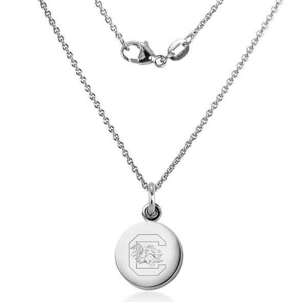 University of South Carolina Necklace with Charm in Sterling Silver - Image 2
