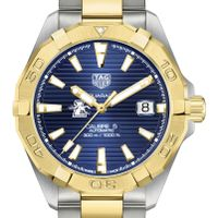 Loyola Men's TAG Heuer Automatic Two-Tone Aquaracer with Blue Dial
