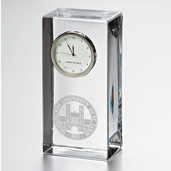 WUSTL Tall Desk Clock by Simon Pearce