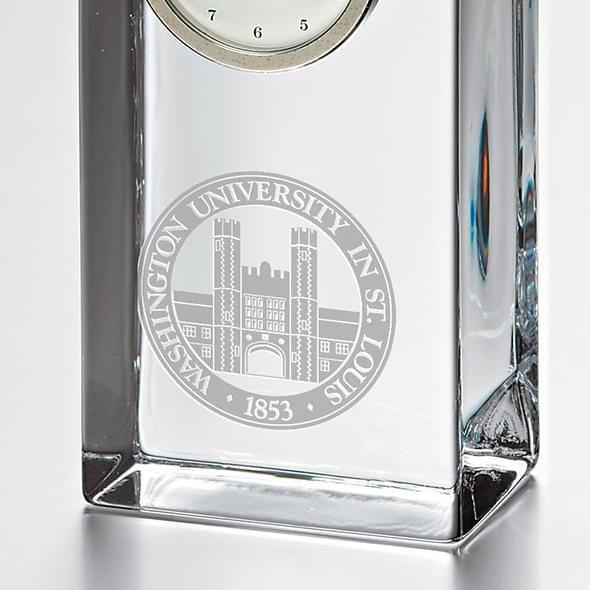 WashU Tall Glass Desk Clock by Simon Pearce - Image 2