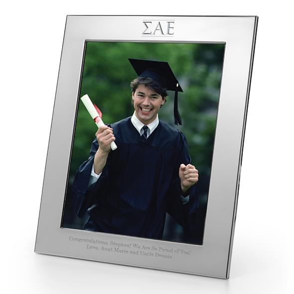 Sigma Alpha Epsilon Polished Pewter 8x10 Picture Frame at M.LaHart & Co.