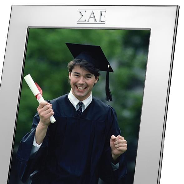 Sigma Alpha Epsilon Polished Pewter 8x10 Picture Frame - Image 2