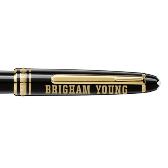 Brigham Young University Montblanc Meisterstück Classique Rollerball Pen in Gold - Image 2
