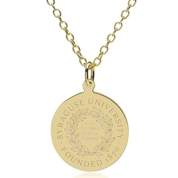 Syracuse University 18K Gold Pendant & Chain