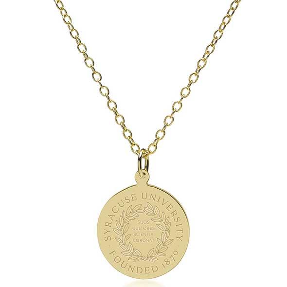 Syracuse University 18K Gold Pendant & Chain - Image 2