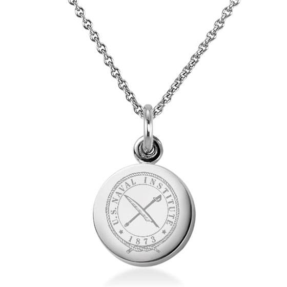 U.S. Naval Institute Necklace with Charm in Sterling Silver