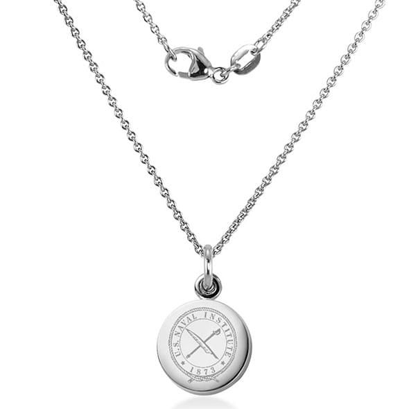 U.S. Naval Institute Necklace with Charm in Sterling Silver - Image 2