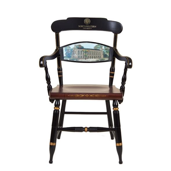 Hand-painted Northwestern University Campus Chair by Hitchcock
