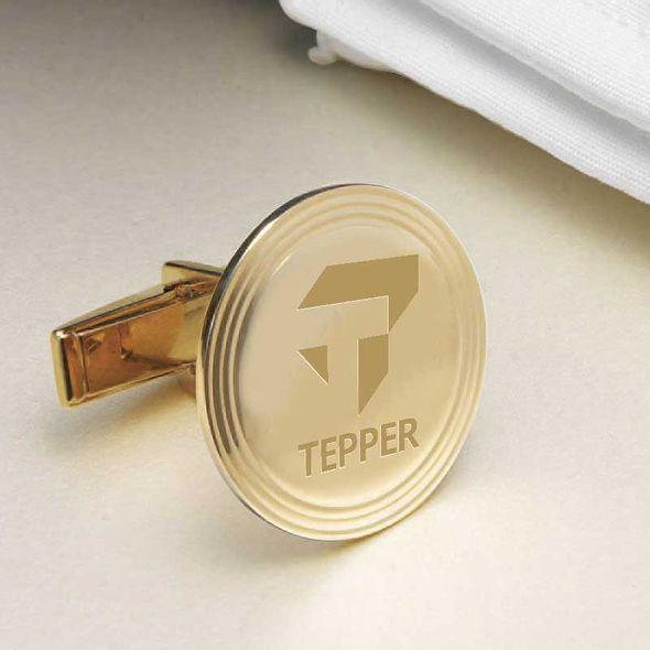 Tepper 18K Gold Cufflinks - Image 2