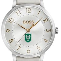 Tulane University Women's BOSS White Leather from M.LaHart
