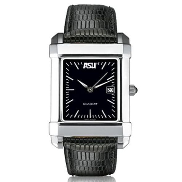 ASU Men's Black Quad Watch with Leather Strap - Image 2