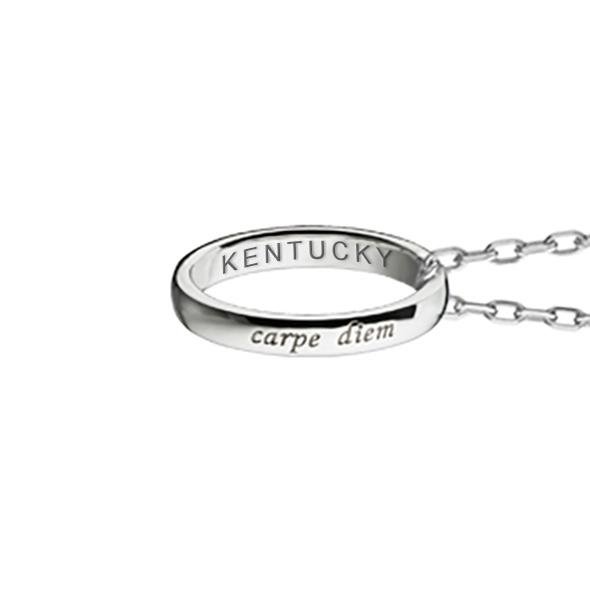 "University of Kentucky Monica Rich Kosann ""Carpe Diem"" Poesy Ring Necklace in Silver - Image 3"