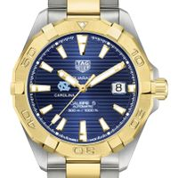 UNC Men's TAG Heuer Automatic Two-Tone Aquaracer with Blue Dial