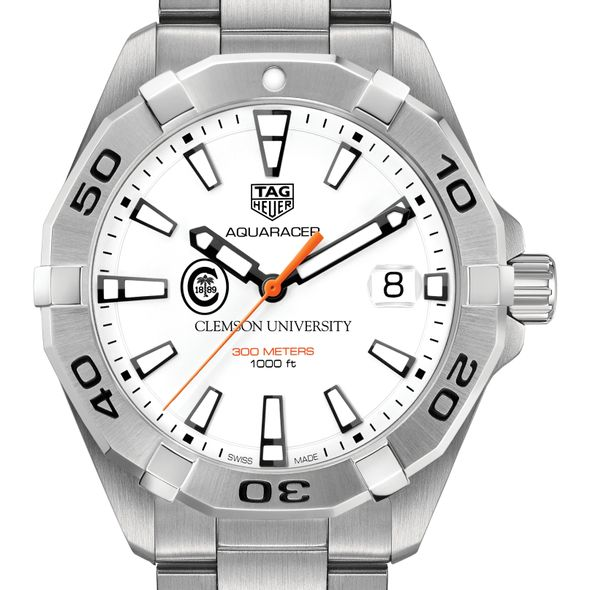 Clemson Men's TAG Heuer Steel Aquaracer - Image 1