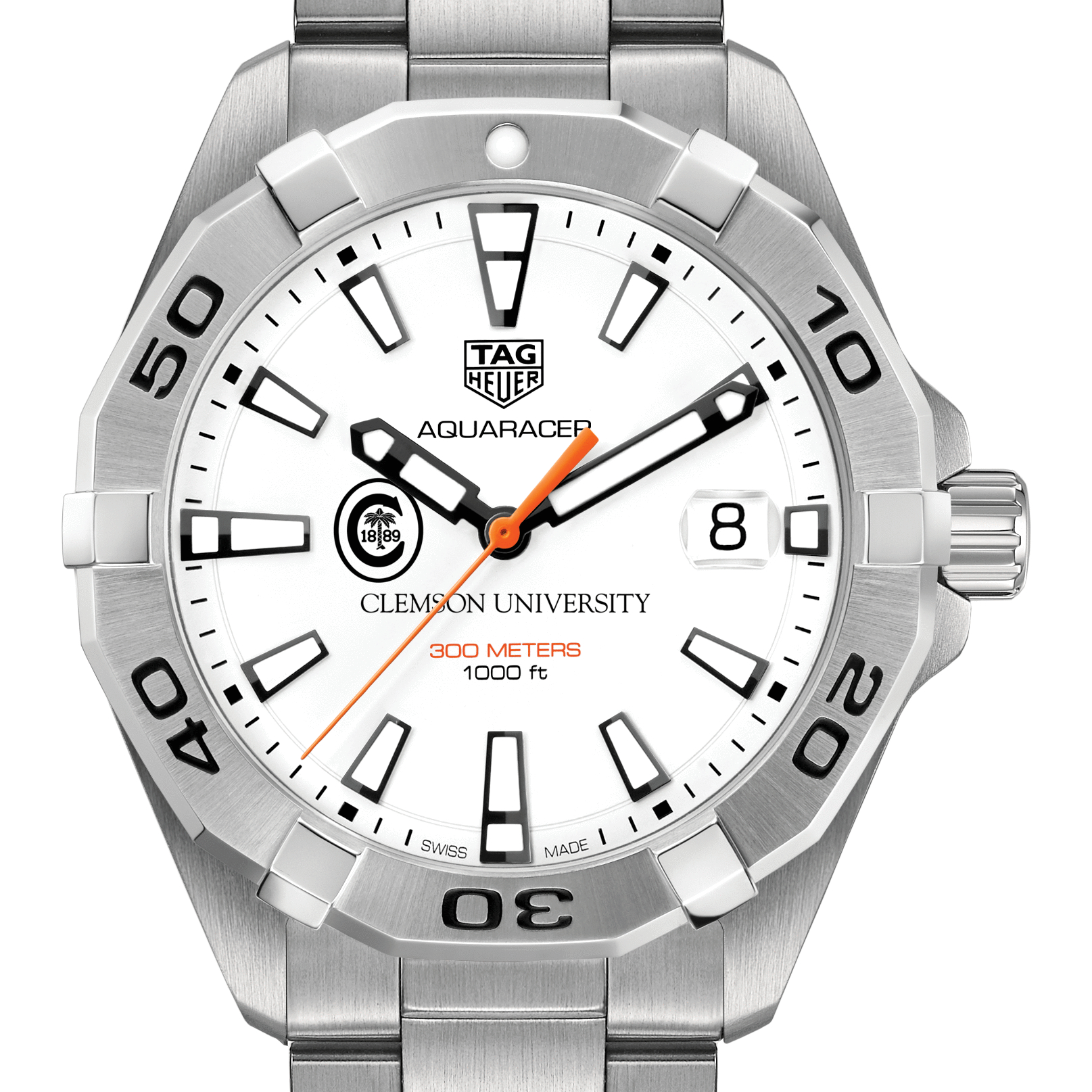 Clemson Men's TAG Heuer Steel Aquaracer