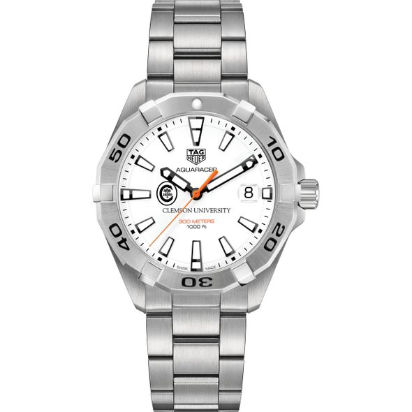 Clemson Men's TAG Heuer Steel Aquaracer - Image 2