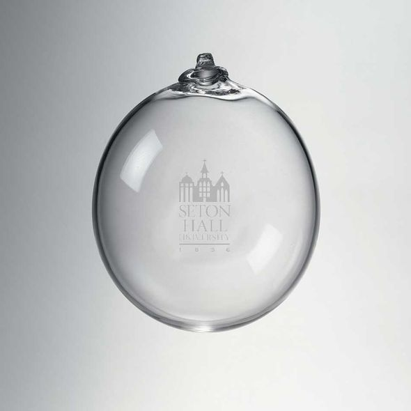 Seton Hall Glass Ornament by Simon Pearce - Image 1