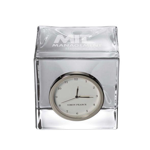 MIT Sloan Glass Desk Clock by Simon Pearce - Image 1