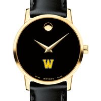 Williams College Women's Movado Gold Museum Classic Leather