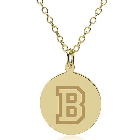 Bucknell 18K Gold Pendant & Chain