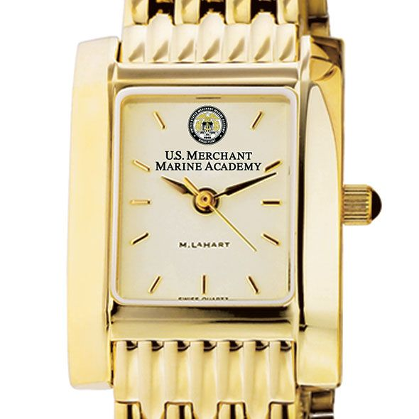 USMMA Women's Gold Quad Watch with Bracelet
