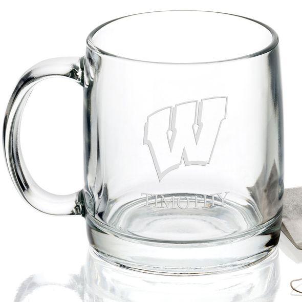 University of Wisconsin 13 oz Glass Coffee Mug - Image 2